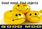 Good mood. Find objects